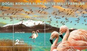 Turkey 2018 Flamingo Bird Birds Fauna Mountain National Park Miniature sheet MNH
