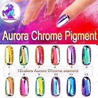 AURORA CHROME EFFECT PIGMENT 100% Mirror Powder Chameleon Unicorn Extra Thin New