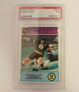 1975 Topps Hockey Bobby Orr ALL-STAR #288 PSA 7