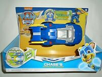 Nickelodeon Paw Patrol Chase's Powered Up Cruiser- Mighty Pups Super Paws