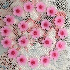 20pcs pink Resin10mm Peach blossom Flower flatback For phone/wedding/craft