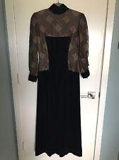 vintage BOB MACKIE couture gown BLACK VELVET overlay POSH CHIC Retro Glam MOD