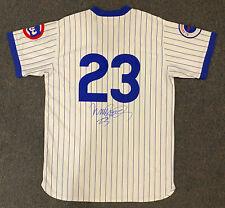 RYNE SANDBERG Chicago Cubs SIGNED Jersey White Pinstripe HOF 2005