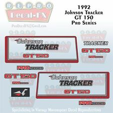 1992 Johnson Tracker GT150 Pro Series V6 Sea-Horse Outboard Repro 19 Pc Decals