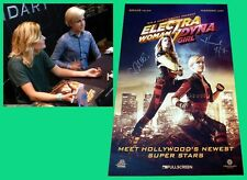 ELECTRA WOMAN And DYNA GIRL sdcc 2015 Signed Poster HANNAH HART GRACE HELBIG