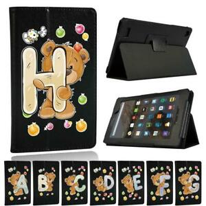 For Amazon Fire 7 / HD 8 / HD 10 Tablet - Smart Leather Stand Cover Case