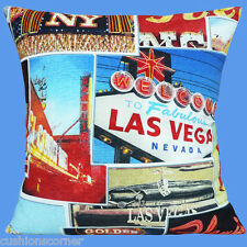 "BRAND NEW LAS VEGAS NEVADA SCENES AMERICA USA Heavy Cotton 16"" Cushion Cover"