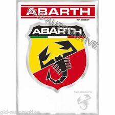 ADESIVO ORIGINALE SCUDETTO ABARTH Autoadesivo supporto cromato 70x80mm Fiat 500
