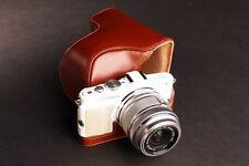 Genuine real Leather Full Camera Case bag for Olympus E-PL6 EPL6 E-PL5 EPL5 B