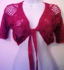 Red Hand Crocheted Short Sleeved Top Made in Peru