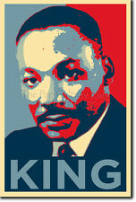 Martin Luther King ART PHOTO PRINT POSTER CADEAU (OBAMA HOPE style) droits civils