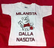 """MAGLIA Milan bambino  4/6 anni """"MILANISTA DALLA NASCITA"""" idea regalo maglietta"""