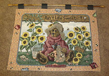 Boyds Bears Bailey the Honey Bear ~ Ain't Life Sweet ~ Tapestry Wall Hanging