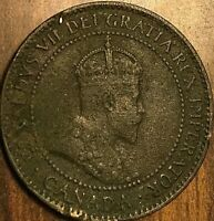 1907 H CANADA LARGE CENT 1 CENT PENNY