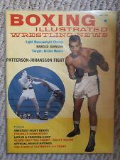 Boxing Illustrated Wrestling News magazine May 1961 Patterson Thomas Girls!