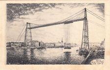 ROUEN 38 le pont transbordeur dessin à la plume A. Goulon