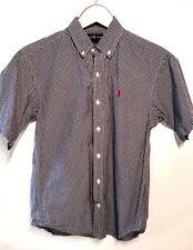 Boy's RALPH LAUREN size M Medium plaid short sleeve shirt