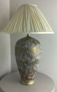 Vintage Mid Century Modern California Ceramic Designers Memphis Circa 1980s Lamp