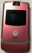 READ FIRST Motorola RAZR V3 Pink AT&T Cell Phone Fast Good Used Parts Repair