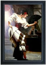 Framed, the Dancer Repro, Quality Hand Painted Oil Painting, 24x36in