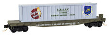 Suprise Attack WWII US ARMY AIR CORPS Nose Art 50' FlatCar MTL#04500507 N-Scale