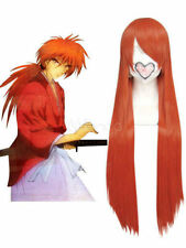 Wigs Fashion Rurouni Kenshin Himura Kenshin Long Cosplay Synthetic Hair Wig NEW