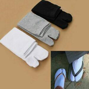 3 Pairs Japanese Kimono Flip Flop Sandal Cotton Split Toe Tabi Ninja Geta Socks