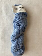 Crystal Palace Cotton Chenille Yarn - 1 Skein - Color #7063 - Blue - 100% Cotton