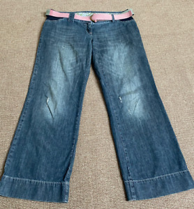 Next Side Elasticated Maternity Slouch Jeans With Belt Size 14L