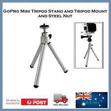 GoPro Mini Extendable Tripod Stand (SILVER) Go Pro Hero 6, 5, Sessions 4, 3 2 HD