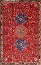 Vintage VEGETABLE DYE Tribal Abadeh Nafar Area Rug Hand-made Oriental Wool 6x9