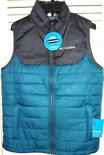 Columbia Horstman Glacier II Water-Resistant Vest Mens Medium Black XM0575-317