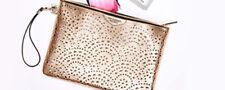 Victorias Secret Makeup Bag Wristlet Rose Gold Purse  2018 Limited Edition