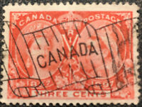Scott #53 1897 Canada 3 Cent Queen Victoria Postage Stamp XF Hinged
