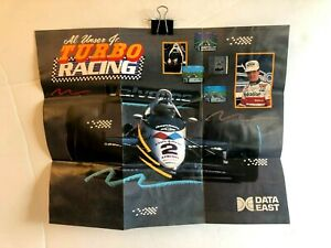 Turbo Racing DAT-NES-US-2 NES POSTER Fold-Out INSERT ONLY Authentic TORN
