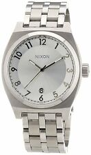 Nixon Monopoly A325100-00 Stainless Steel White Face Watch