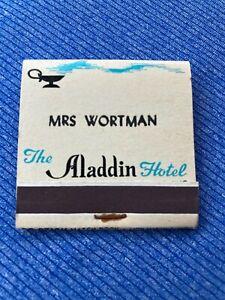 Vintage Personalized Matchbook: The Aladdin Hotel - Kansas City, MO  30 Strike