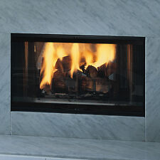 "DSR36 Majestic See Through Designer Wood Burner Fireplace 36"" Convertible to Gas"