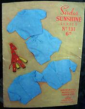 Sirdar vintage modello per i bambini Top & Pantaloni Tg 9-12 LAV