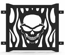 Skull Flame Black Powdercoat Radiator Cover Grill fits: 85-07 Yamaha VMax 1200