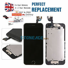 For iPhone 6 4.7 Screen Replacement Black LCD Digitizer Touch Home Button Camera