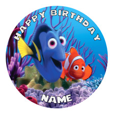 Finding Dory Nemo Personalised Edible Birthday Cake Decoration Topper Image