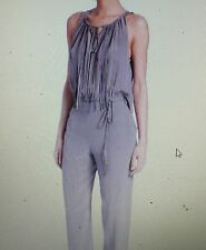 Elie Tahari Cheyenne Sleeveless Fringe One Piece Silk Jumpsuit Sz 8 $398