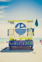 Lifeguard Tower South Beach Miami Florida Photo Art Print Poster 24x36 inch