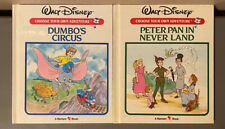 2 Vintage Walt Disney Choose Your Own Adventure Books Bantam DUMBO, PETER PAN