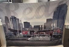 "Cincinnati Reds Luxury Blanket/Throw 60""x45"" NEW SGA - Stadium/Skyline 2017"