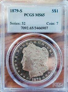 1879 S MS65 MORGAN SILVER DOLLAR  WIDE MIRRORS! WAY OFF GRADING.