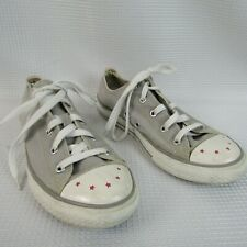 Converse All Stars gray Girls Tennis Shoes Size 4