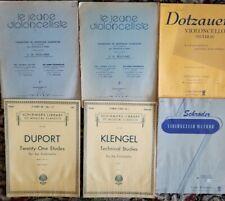 6 Cello Classics books (Various) Intermediate to Advanced Level