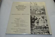 Hawaii Statehood Dedication Service - Kawaiahao Church 1959